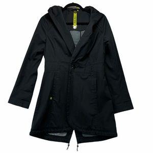 Soia & Kyo Split Back Trench Coat Black